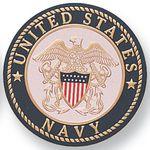 Custom 97 Series Military Litho Printed Embossed Medallion Insert (United States Navy)