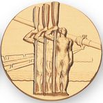 Custom Sports & Game Stamped Medal Inserts (Rowing- 3 Rower Standing)