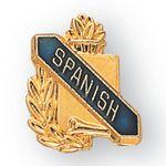 Custom Enameled & Epoxy Domed Scholastic Award Pin (Spanish)