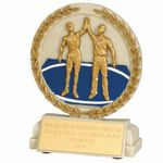 Custom Cast Stone Medal Trophy (Wrestling)