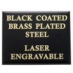 Custom Black Brass Plated Steel Plate (2 5/8