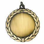 Custom Large Die Cast Metal Medallion Frames (Laurel Wreath & 2 Center Bar)