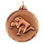 Custom IR Series Die Struck Academic & Sports Medals (Wrestling)