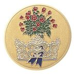 Custom General Achievement Etched Enameled Medallion Insert Disc (Beauty Pageant)