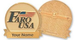 Faro Solid Pewter Belt Buckles (2
