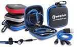 Custom Tech Traveler Earbuds & Multi Charging Cable Set in Zip Case