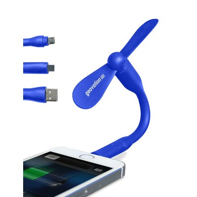 USB 3-in-1 Mobile Fan with Directional Cooling Flex-Stem