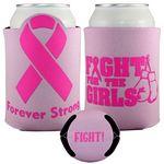 Custom Crazy Frio Beverage Holder - Cancer Ribbon
