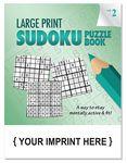 Custom LARGE PRINT Sudoku Puzzle Book - Volume 2
