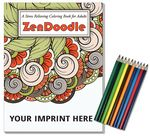 Custom Relax Pack - ZenDoodle Coloring Book for Adults + Colored Pencils