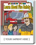 Custom Learn About Fire Safety Sticker Book