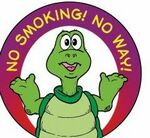 Custom No Smoking! No Way! Sticker Roll