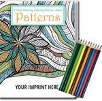 Custom Relax Pack - STRESS RELIEVER/COLORING BOOK - Patterns Coloring Book for Adults + Colored Pencils