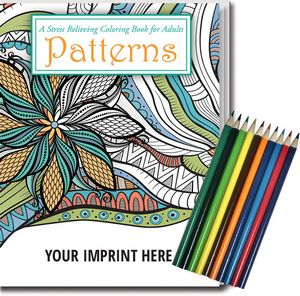 Relax Pack - Patterns Coloring Book for Adults + Colored Pencils