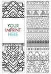 Custom Coloring Bookmark - Patterns