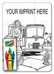 Custom Coloring Puzzle Set - Fire Safety Design (9 Piece)