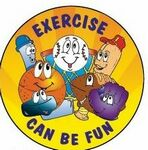Custom Exercise Can Be Fun Sticker Roll