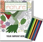 Custom Relax Pack - Nature Coloring Book for Adults + Colored Pencils