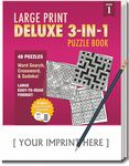 Custom LARGE PRINT Deluxe 3-in-1 Puzzle Book Pack