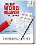 Custom LARGE PRINT Word Search Puzzle Pack Set - Volume 2