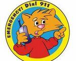 Custom Emergency! Dial 911 Sticker Roll