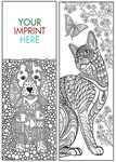 Custom Coloring Bookmark - Animals