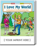 Custom I Love My World Coloring Book