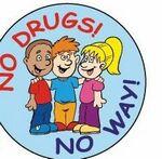 Custom No Drugs! No Way! Sticker Roll