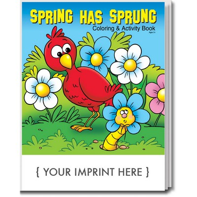 Spring Has Sprung Coloring Book