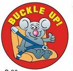 Custom Buckle Up! Sticker Roll