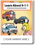 Custom Learn About 9-1-1 Coloring Book