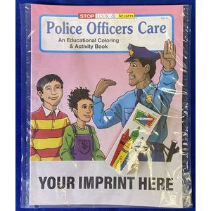 Police Officers Care Coloring Book Fun Pack