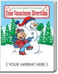 Custom Holiday Fun - Unas Vacaciones Divertidas Spanish Coloring Book