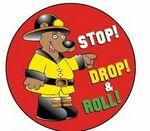 Custom Stop! Drop! & Roll! Sticker Roll