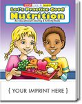 Custom Let's Practice Good Nutrition Coloring Book
