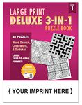 Custom LARGE PRINT Deluxe 3-in-1 Puzzle Book