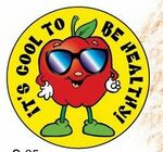Custom It's Cool To Be Healthy! Sticker Roll