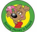 Custom Saving Money Is Smart! Sticker Roll