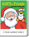Custom Santa & Friends Coloring Book