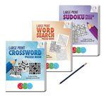 Custom LARGE PRINT Puzzle Book Gift Set - Volume 1