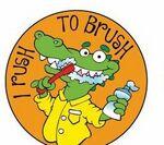 Custom I Rush To Brush! Sticker Roll