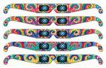 Custom Fireworks Glasses - Rainbow Tie Dye - Stock Imprint