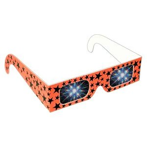 Fireworks Glasses - Assorted Neon w/ Stars - Stock Imprint