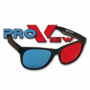 3D Glasses - Plastic ProView - Red/Cyan Lenses - Stock