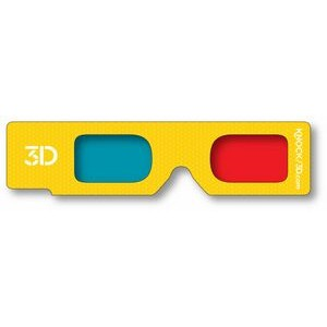 3D Glasses - Hand Held- Red/Cyan Lenses