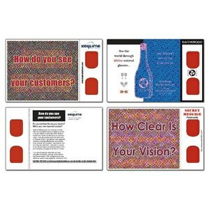 3D Greets Post Cards - Red Decoder Lens - Custom Imprint