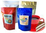 Custom Gourmet Coffee Stand Up Bag (Printed Label)
