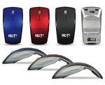 Custom USB Folding Wireless Optical Arc Mouse