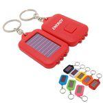 Custom Solar LED Powered Lighted Keychain