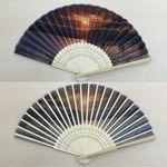 Custom Cloth Folding Fans with Bamboo Ribs